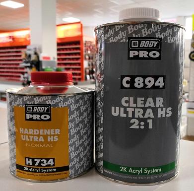 Body C 894 Lak Ultra HS 2:1, 1L + Herter H734, 0.5L, set