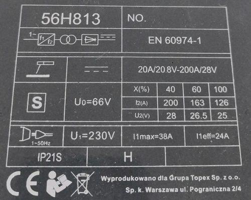 Graphite 56H813 Inverterski zavarivač, 230V, 200A_2