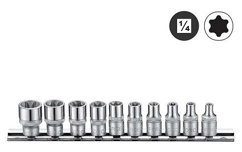 """Force 21016 Zvezdasti set gedora 1/4"""", set (10kom)"""