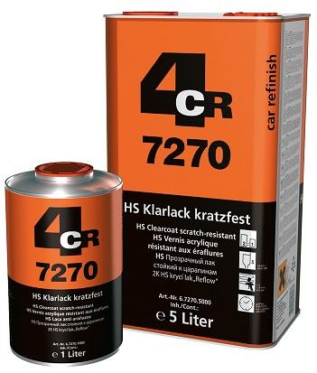 4CR 7270 2K HS Bezbojni lak 2:1, otporan na ogrebotine