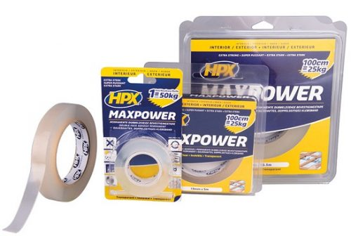 HPX Max Power Transparent - Dvostrano lepljiva, providna traka