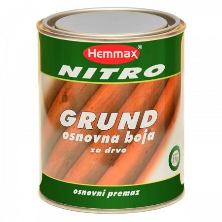 Hemmax Nitro Grund - Osnovna boja za drvo - bela, 0.9 KG