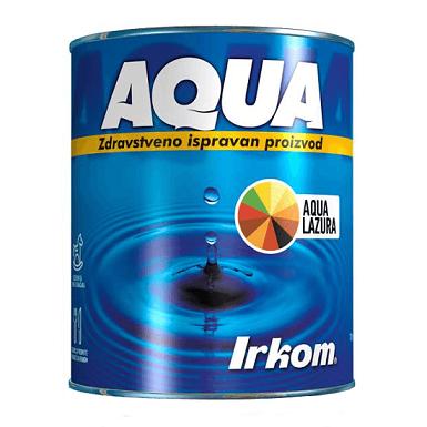 Irkom Aqua Lazura sa voskom i UV zaštitom - Zdravstveno ispravan proizvod, 0.7L
