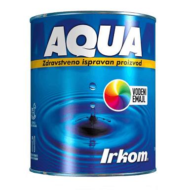 Irkom Aqua Vodeni emajl, sjajni - Zdravstveno ispravan proizvod na vodenoj bazi, 0.7L