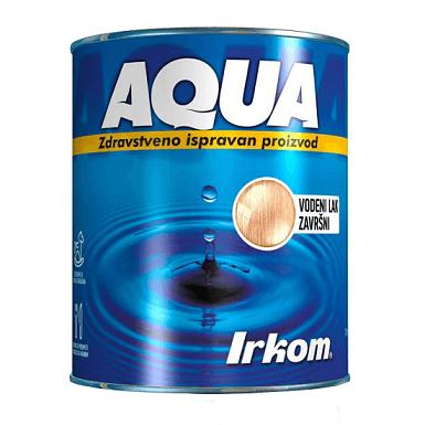 Irkom Aqua Vodeni lak završni, transparentni - Zdravstveno ispravan proizvod, 0.75L