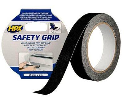 HPX Safety Grip - Protivklizna traka - crna, 25mmx5m blister