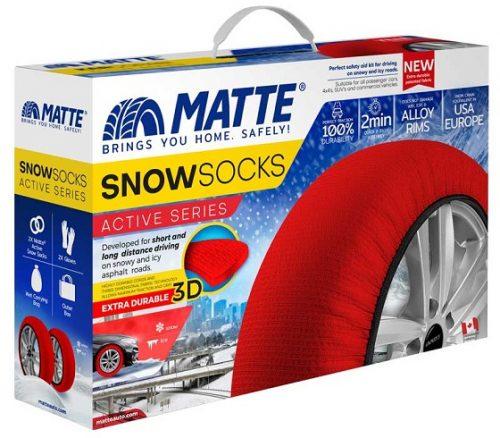 Matte Auto čarape za sneg, set