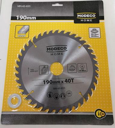 Modeco Home List kružne testere za drvo, 190x30x2 mm / 40 zuba