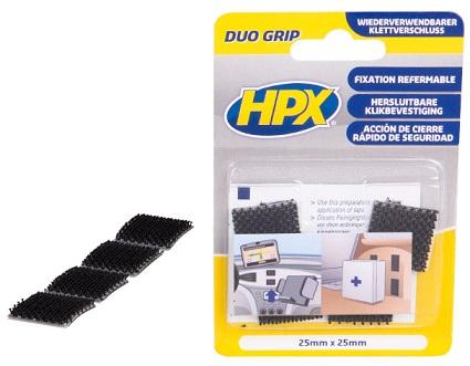 HPX Duo Grip Čičak pločice, 25mmx25mm (DG1000S)