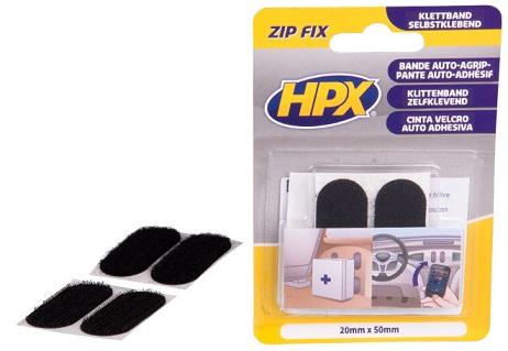 HPX Zip Fix Samolepljive čičak pločice (ZF1000S), 20mmx50mm