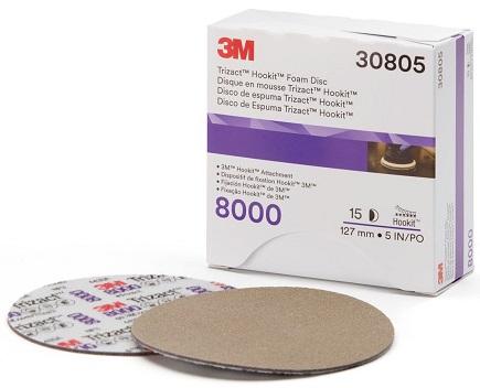 3M 30806 Trizact Hookit Foam P8000 - Penasti brusni disk, 150mm