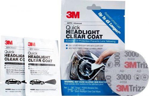 3M 39173 Quick Headlight Clear Coat - Lak premaz u maramicama za brzo poliranje i zaštitu farova, set