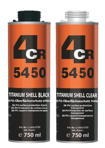 4CR 5450 Titanium Shell 2K PU Zaštita poda i tovarnog prostora, 750ml
