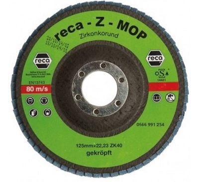 RECA Z-MOP Lamelni brusni disk za obradu čelika, 115mmx22.23mm