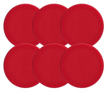 Sonax 493700 Sunđer za poliranje (crveni) grubi, 80mm - Set 6kom