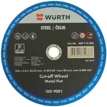 Wurth Rezna ploča za čelik, 230x2.0x22.23mm